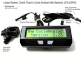 Cycle analyst direct plug in with speedo meter large screen 2.3