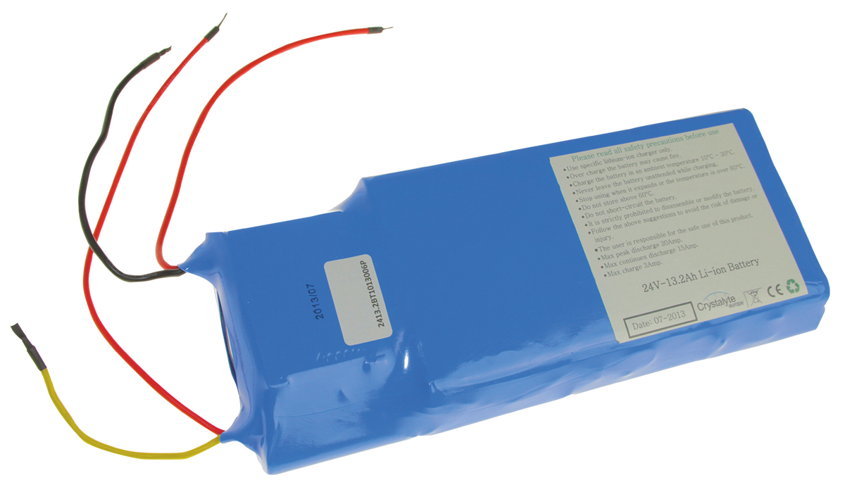 Li Ion 24V14.5Ah Samsung  battery for BinBike Europa