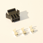 3 Pin Female black Plastic connector