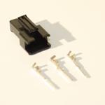 3 Pin Male black Plastic connector