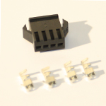 4 Pin Female black Plastic connector