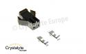 2 Pin Female black Plastic connector